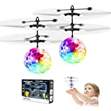 2 Pack Flying Ball Toys, Rechargeable Ball Drone Light Up RC Toy for Kids Boys Girls Gifts, Infrared Induction Helicopter wit
