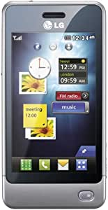 LG GD510 Unlocked GSM Quad-Band Cell Phone with 3MP Camera, Touch Screen, MP3 Player, and Bluetooth - Unlocked Phone - No Warranty - Silver