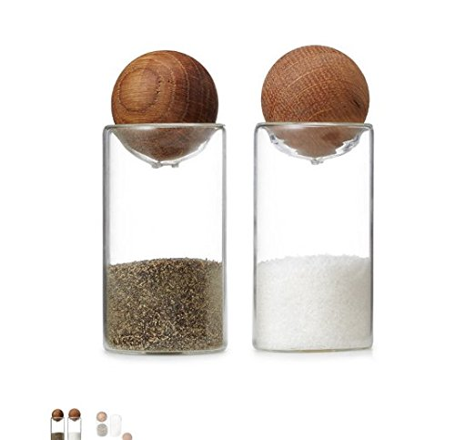 (Oval Oak Salt and Pepper Shakers)