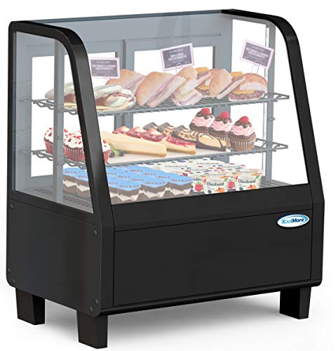 Case Refrigerated Display - KoolMore Commercial Countertop Refrigerator Display Case Merchandiser with LED Lighting - 3.6 cu. ft
