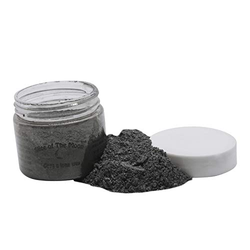 Slice of the Moon: Black Luster Mica Powder 28g, Natural Mineral Mica, Cosmetic Grade For Lipstick Lip gloss Bath Bombs Epoxy Resin Face Blush Powder Eye pencil Dye Pigments Candle Making