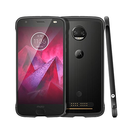 (Moto Z2 Force Case, Lenovo Aluminum Metal Bumper Anti-scratch shockproof One buckle locking Easy Assembling Black Protective Case for Motorola Moto Z2 Force)