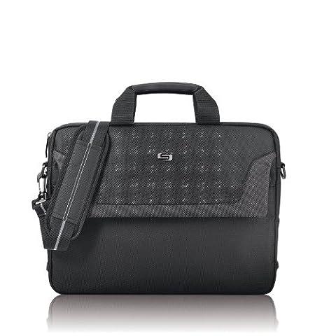 Solo Flatiron 16 Inch Laptop Slim Brief, Black - Attache Brief