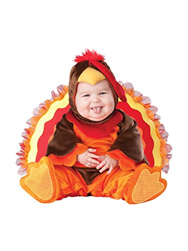 InCharacter Costumes Baby's Lil' Gobbler Turkey Costume, Brown/Orange, Small -