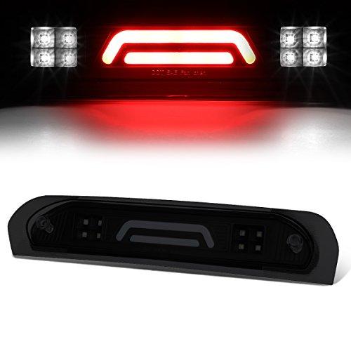 For Dodge RAM Truck All 3D LED Bar 3rd Third Tail Brake Light Rear Cargo Lamp (Black Housing/Smoked Lens)