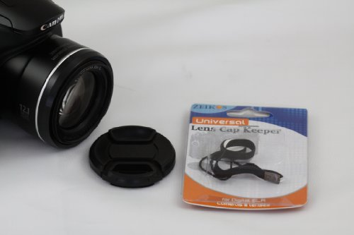 52mm Lens Cap With Cap Holder For The Canon SX50 SX60 SX30IS SX30 IS SX40 HS SX40HS Digital Camera