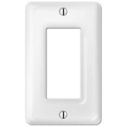Atron Porcelain Decorative Switch Plate Wall Plate Cover Rectangular White Rocker 3002r
