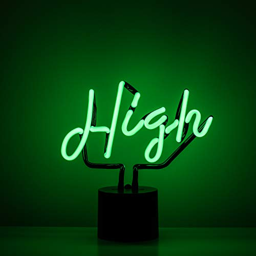 Amped & Co High Neon Desk Light, Real Neon, Green, Cursive Typography Font, 9x9 inches, Home Decor Neon Signs for Unique Rooms (Best Font For Neon Sign)
