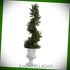 JumpingLight Rosemary Spiral with Urn Artificial Flowers Wedding Party Centerpieces Arrangements Bouquets Supplies