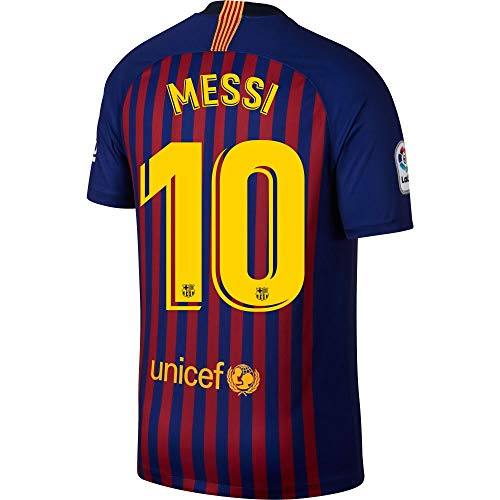 Nike Barcelona Kids Home Messi 10 Jersey 2018 2019 (Official Printing) - 140 e86ed2271