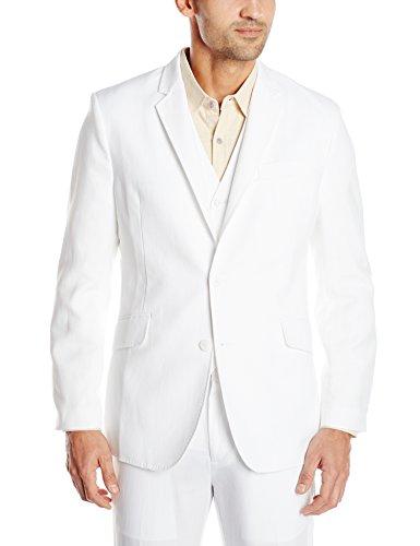 Blend Suit Jacket (Cubavera Men's Easy Care Linen Blend Jacket, Bright White, XX-Large)