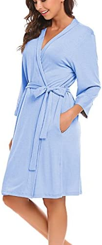 BLUETIME Kimono Bathrobe Sleepwear Loungewear