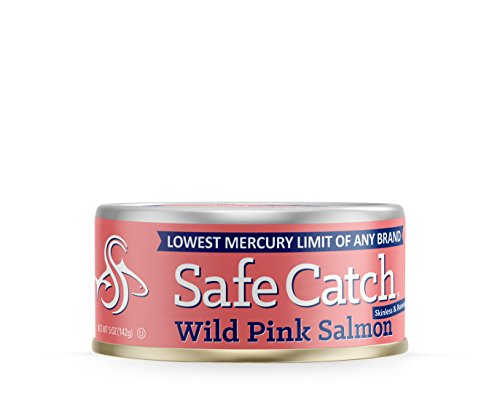 Safe Catch Wild Pink Salmon, Original – 5 Ounce Cans (6 Pack)