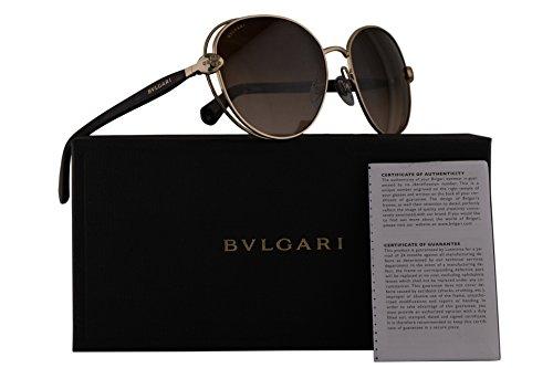 Bvlgari BV6087B Sunglasses Black Pink Gold w/Grey Gradient Lens 57mm 20238G BV 6087B BV6087-B BV 6087-B - Sun Bulgari Glasses