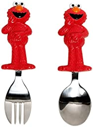 Munchkin Sesame Street Toddler Fork and Spoon, Elmo - 3 Sets