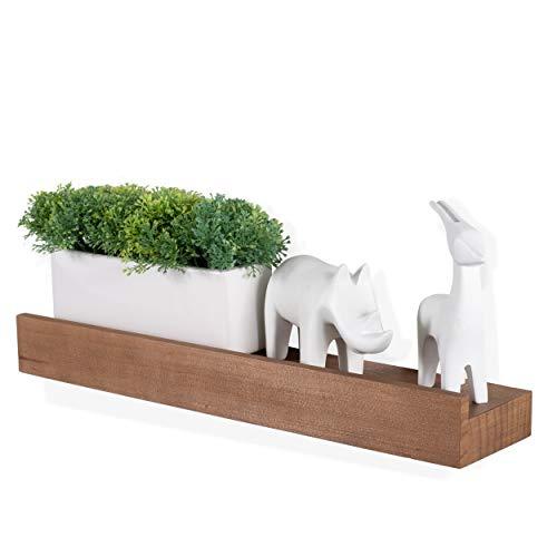 - Rustic State Wood Floating Wall Mount Picture Ledge Shelf | Nursery Bookshelf Walnut Finish 17 Inches