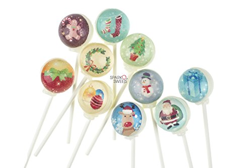 3D Lollipops Christmas Characters Designs (10 Piece Set)