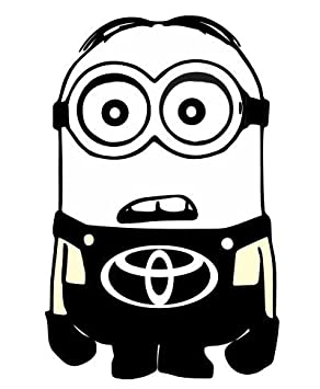 TOYOTA MINION VINYL DECAL STICKER MANY COLORS FREE SHIPPING