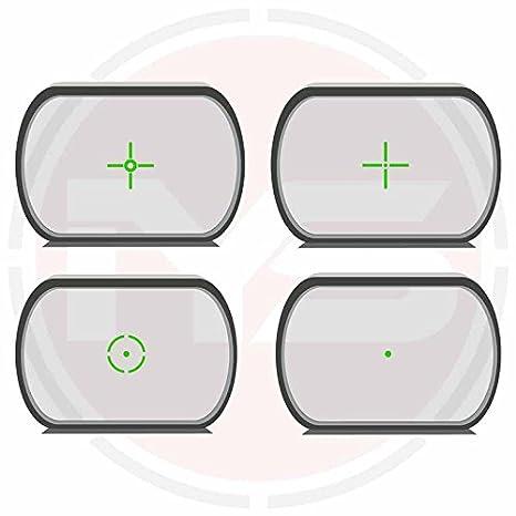 Tactical rot /& gr/ün Dot Reflex Sight//Weaver Schiene 4/Absehen Holografische SIGHT