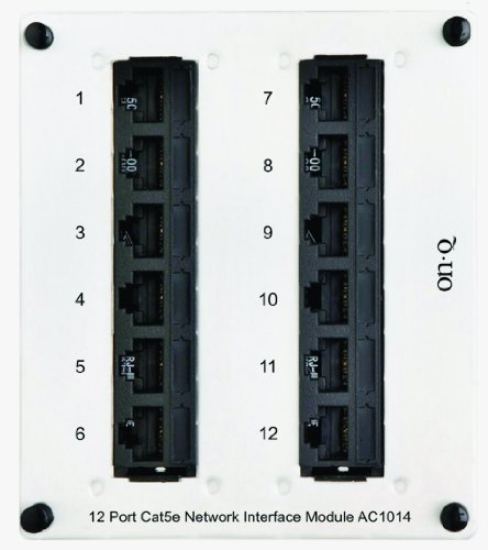(Legrand - On-Q AC1014 12Port Cat 5e Network Interface Module)