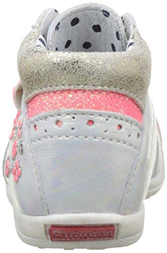 Catimini Papillon - Zapatos de primeros pasos Bebé-Niños Blanc (Vte Blanc-Fluo Dpfgluck)