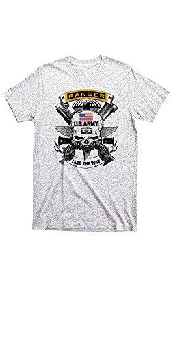 Warface Apparel Army Ranger T-Shirt Combat Deadly Light Grey Tee (XXL)