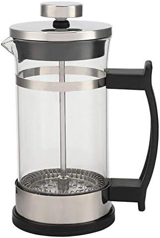 Cafetera para hacer té, cafetera, con asa, acero inoxidable, vidrio, cafetera, prensa francesa, filtro, olla, hogar, fabricante de té: Amazon.es: Hogar
