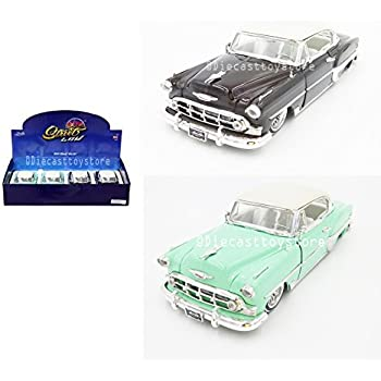 4 pack 1953 Chevy Bel Air Hard Top Diecast Car 1:24 Jada Toys 8 inch White Walls
