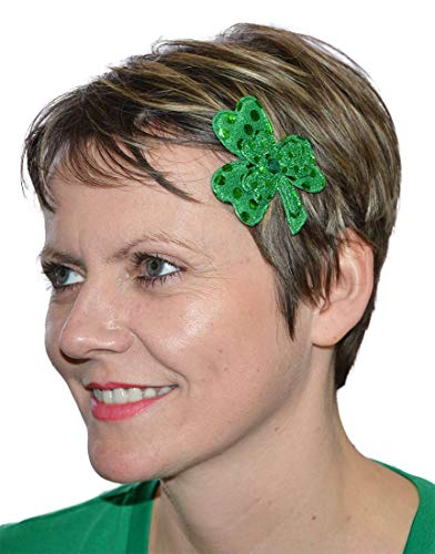 Shamrock Hair Clip - Sequin St. Patrick's Day Shamrock Hair Clips (2 Per Pack)