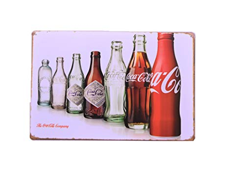 H&K Coke Cola Bottle Revolution Retro Metal Tin Sign Posters Diner Pub Restaurant Wall Decor 12X8-Inch