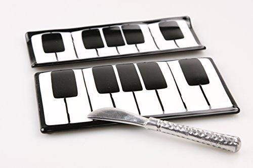 Piano KeyBoard Cheese Board and Cracker Tray (Glass Piano Dish)