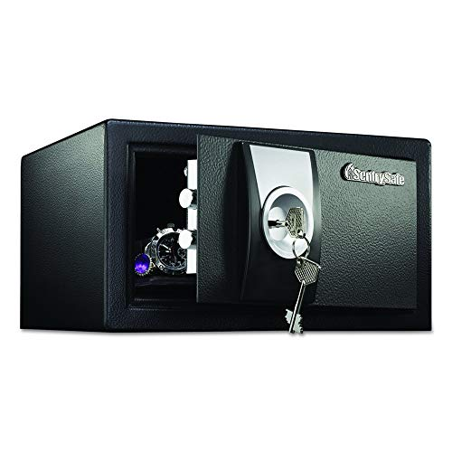 (SentrySafe X031 Security Safe with with Key Lock, 0.35 Cubic Feet, Black)