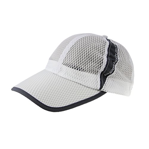 Unisex Adults Summer Quick Dry Breathable Mesh Baseball Cap Long Brim Adjustable Snapback Trucker Outdoor Sports Fishing Running Cycling Tennis Golf Ball Anti UV Sun Protection Visor Baseball Hat Cap