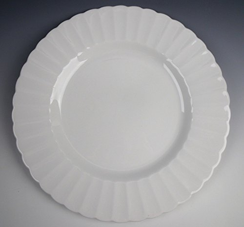 Susie Cooper China WHITE FLUTE Dinner Plate(s) VERY GOOD