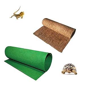 Hamiledyi Reptile Carpet Mat Natural Coconut Fiber Substrate Terrarium Liner Bedding for Tortoise Lizard Snake Bearded…
