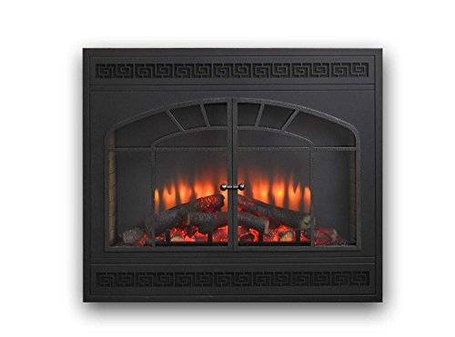 GreatCo Gallery Series Built-in Electric Fireplace with Arched Rectanguler Front, 34-Inch