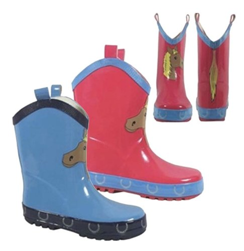 Blue Mountain Rain Boot (Smoky Mountain Rubber Pony Boot Poop Kicker - Blue - Child 1)