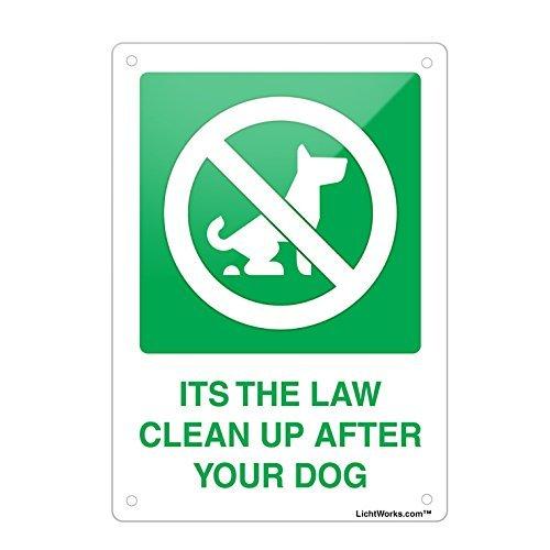 Cartel de Metal de Aluminio con Texto en inglés Dog Poop ...