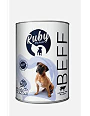 Ruby super Wet food cans for dogs (Beef flavored)