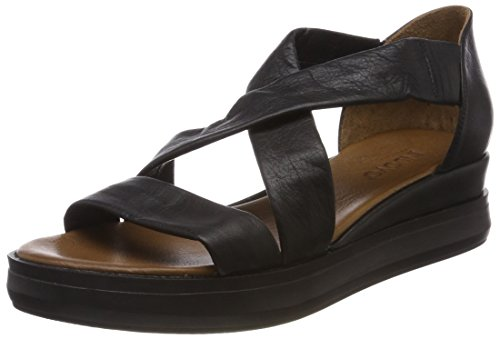 Inuovo Ladies 8956 Peep Toe Sandals Black (Black 16781933) clearance 100% original clearance tumblr looking for online discount very cheap KP785jho