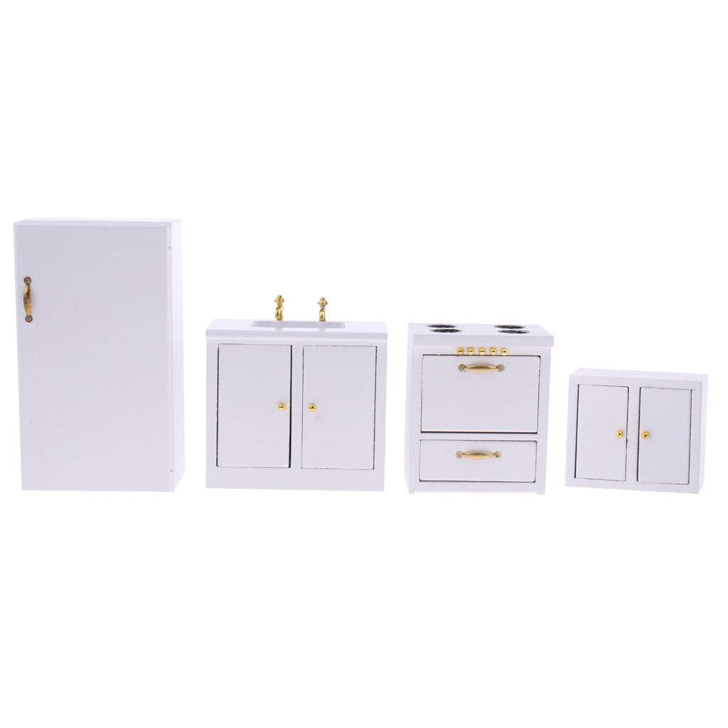 1/12 Dolls House Miniature Furniture Kitchen Refrigerator Hearth Basin Set 41GqtGWHF1L._SL1024_