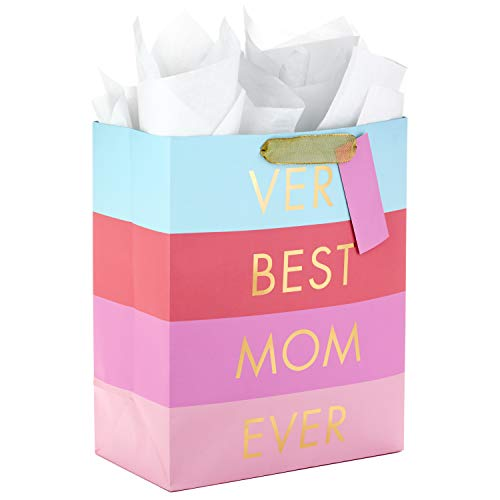 Hallmark Large Mother's Day Gift Bag with Tissue Paper (Very Best Mom Ever)