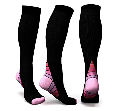 Graduated Compression Socks for Men & Women, BEST Athletic Fit for Running, Cycling, Nurses, Shin Splints, Air Travel,Foot Support & Maternity Pregnancy. Boost Stamina, Circulation, & Recovery -2 Pair by H-Brotaco (Image #2)