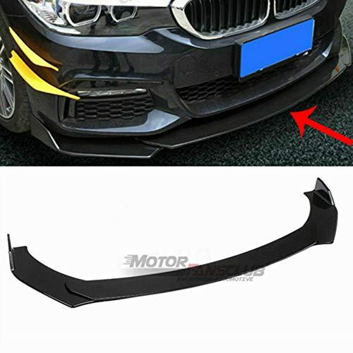 Universal Front Bumper Lip Splitter for Honda BMW Audi Nissan Infiniti Chevrolet Ford Protection Splitter Spoiler, Black