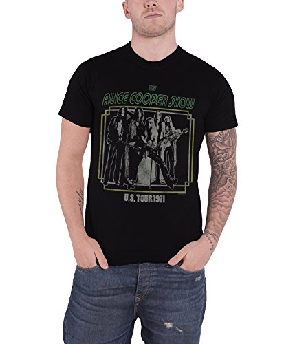 (Alice Cooper Usa Tour 1971 Poster Official Mens Black T)
