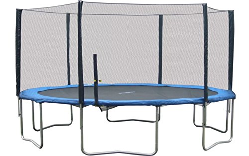 16' Round Trampoline with Safety Enclosure, Kids Backyard Play by Super Jumper