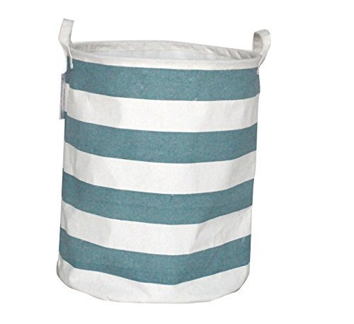 Canvas Clothes Hamper - Premium Decor Fabric Foldable Canvas Laundry Basket, Hamper Closet Storage Bin, Bag, Tote