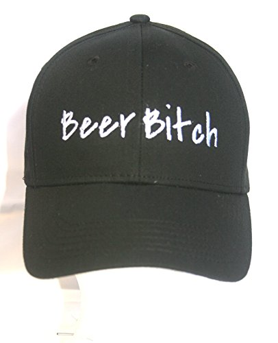 Beer Bitch - Black Embroidered Ball Cap