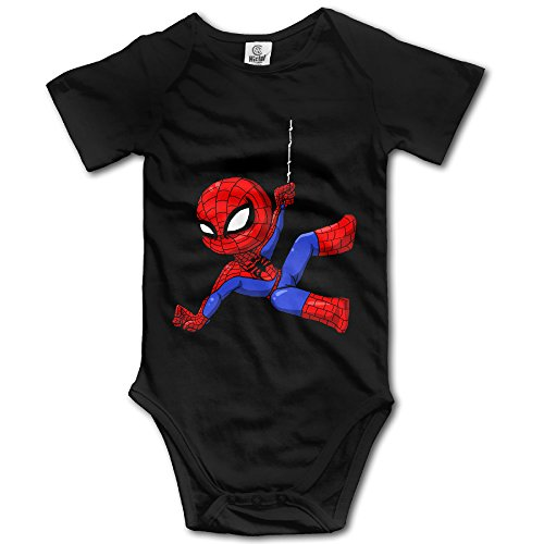 [Famouse Hero Spiderman Hanging Out Baby Onesie Infant T Shirt] (Spiderman Bodysuit)