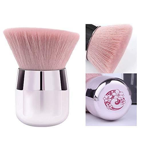 ENERGY Kabuki Powder Foundation Brush Portable Mineral Powder Brush Angled Large Face Brush Pink